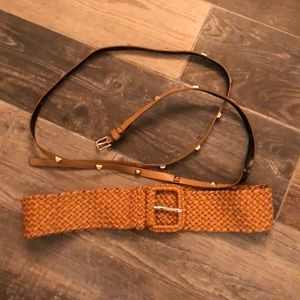 Lot of two belts